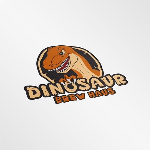 Design an dinosaur logo for restaurant