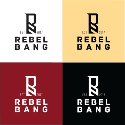 Rebel Bang logo design