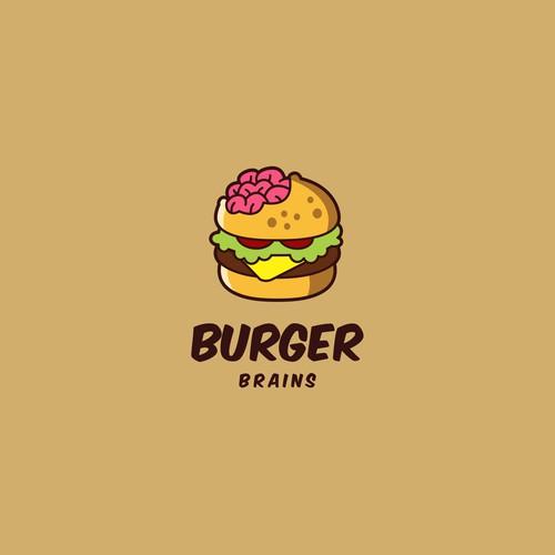 Attractive logo design for Burger Brains