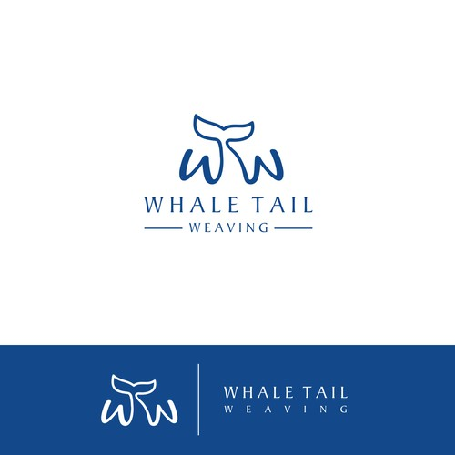 Use a whale's tail to create a wTw logo for Whale's Tail Weaving