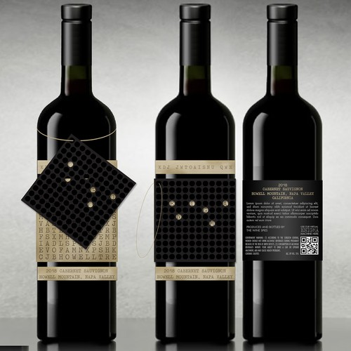 Conceptual Label for High End Wine