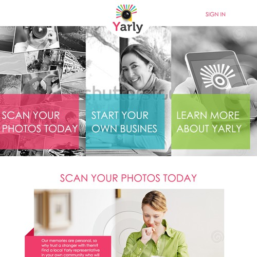Landing Page for Innovative Photo Scanning Service