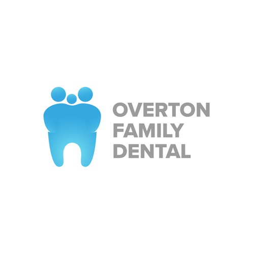 Clean and modern logo for family dental clinic