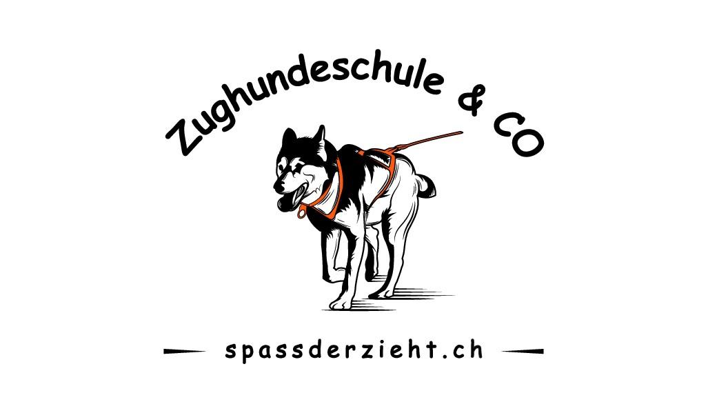 Erstelle ein cooles Design für eine Schlittenhunde/Zughundeschule