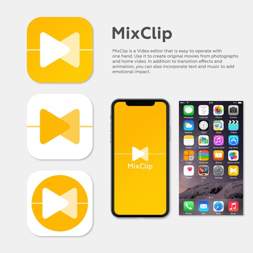 App Icon Design for MixClip