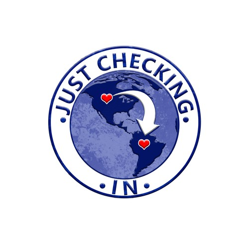 Just Checking In world communication logo