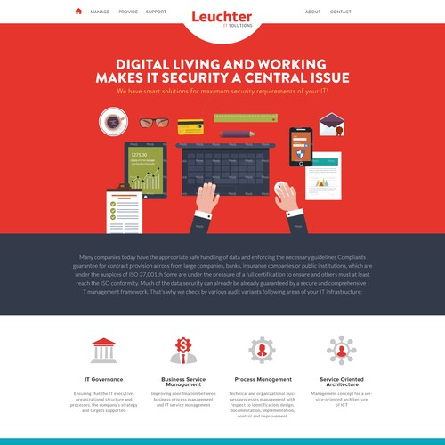 Landingpage für IT-Security Anbieter