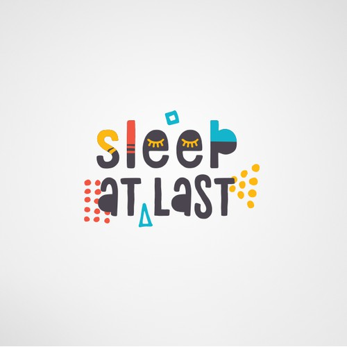 Colorful logo for Sleep At Last