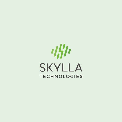 Energetic logo for robotic startup: Skylla Technologies