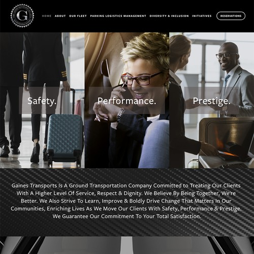 Boutique Transportation Company web design