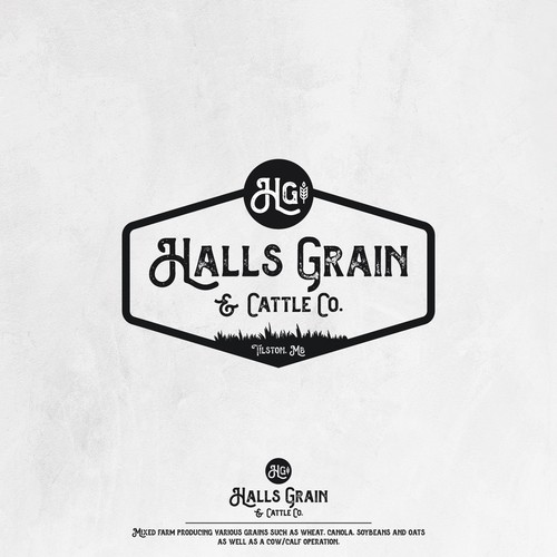 Halls Grain & Cattle Co. Logo
