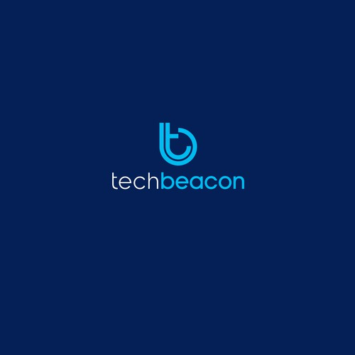 Create a modern logo for our new media site, TechBeacon