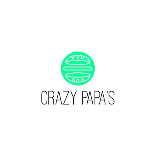 Crazy Papa's Logo Concept