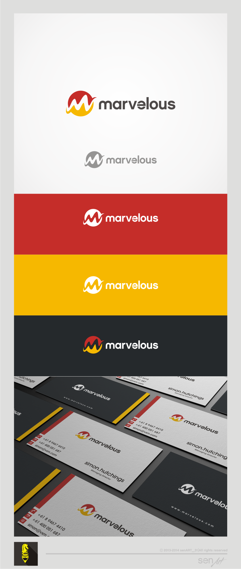 Create a Marvelous logo for a Marvelous company