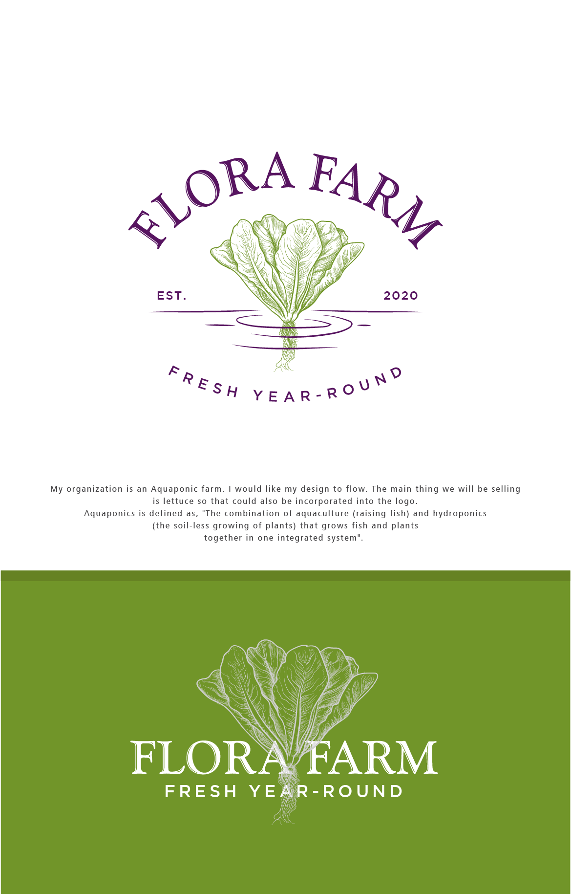 Design a logo that flows for a sustainable produce farm.