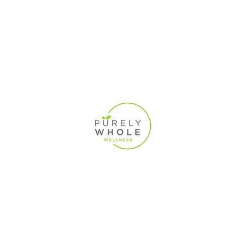 Design a logo for Purely Whole, a wellness consulting company for real people