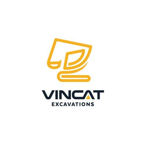 Logo for Vincat Excavations
