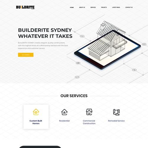 Builder construction web design