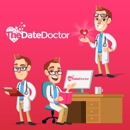 The DateDoctor mascot