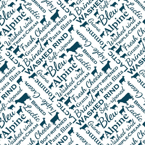 Cheese wrapping paper pattern