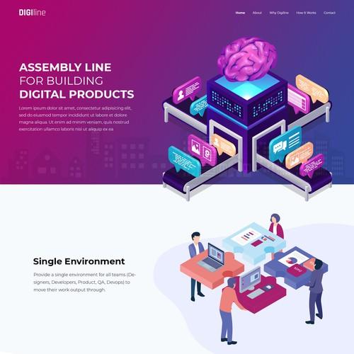 Startup Company Landing Page