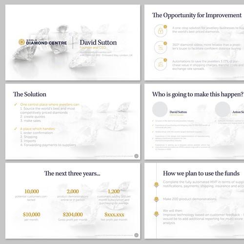 Presentation redesign for World Diamond Centre