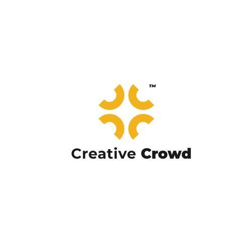 Bold logo for Creative Crowd