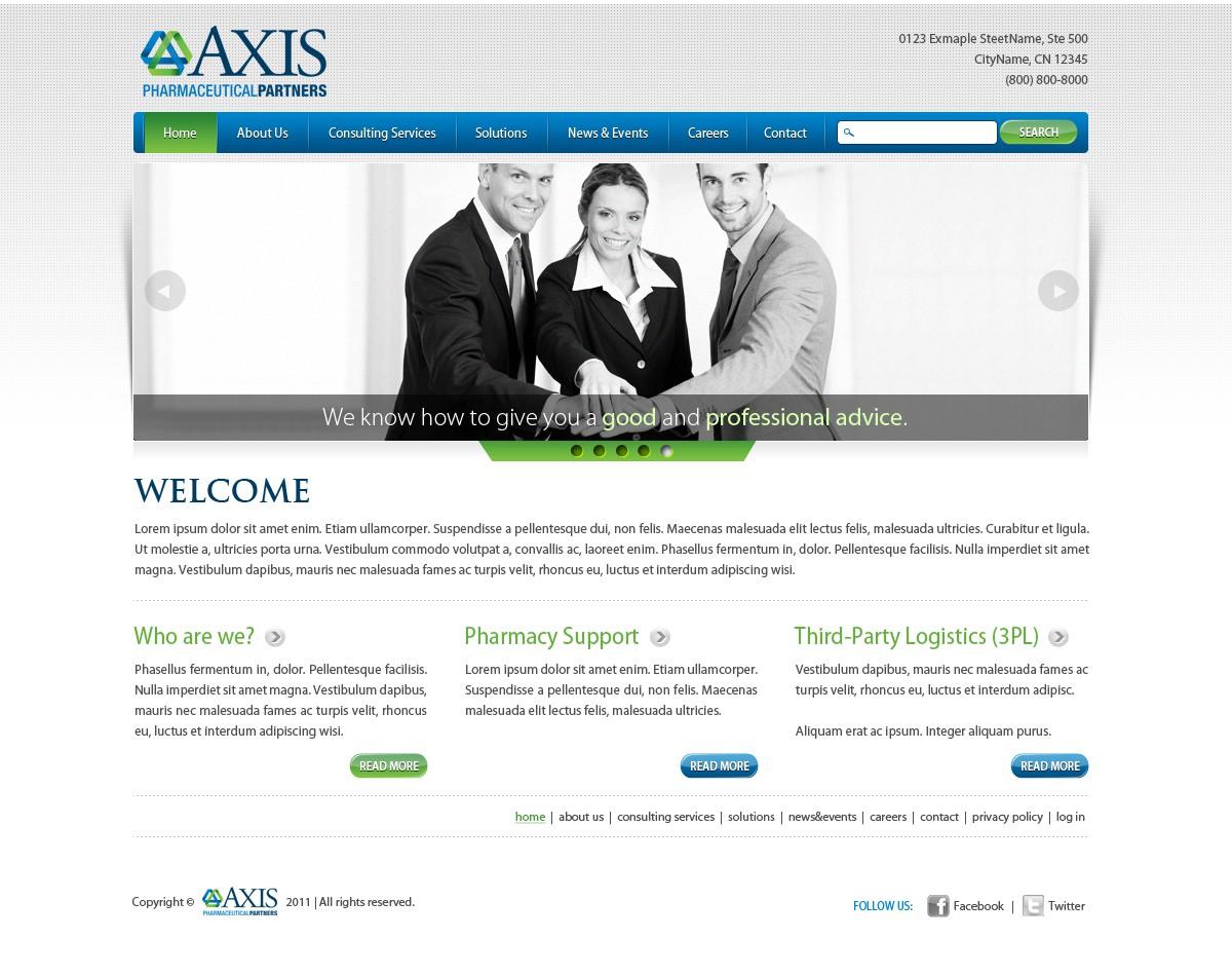 Create the next website design for Axis Pharma Partners
