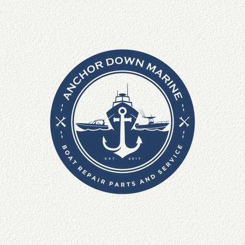 Anchor Down Marine Logo