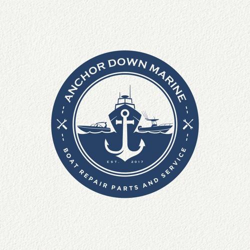 Anchor Down Marine Logo