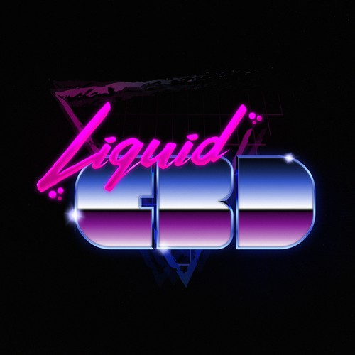 80s style logo with an added bit of flare.