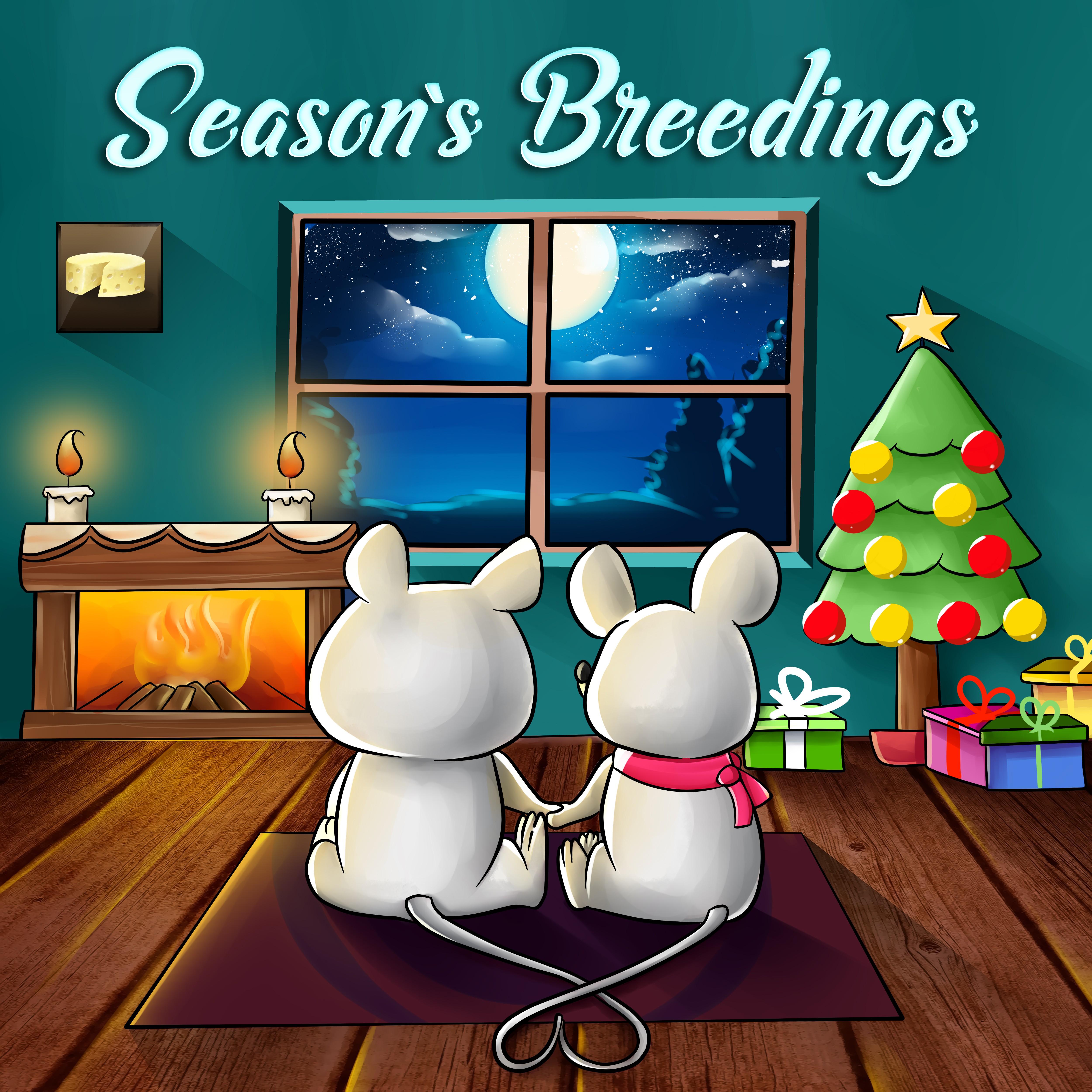 Create Playful Holiday Card - SEASONS BREEDINGS with Mice