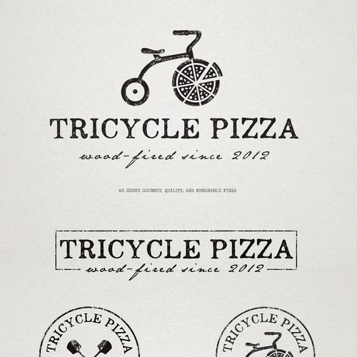 Logo for a Wood-Fired Pizzeria