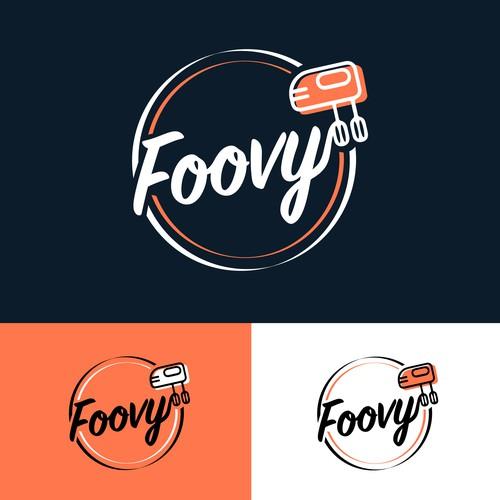 Vibrant & feminine food logo