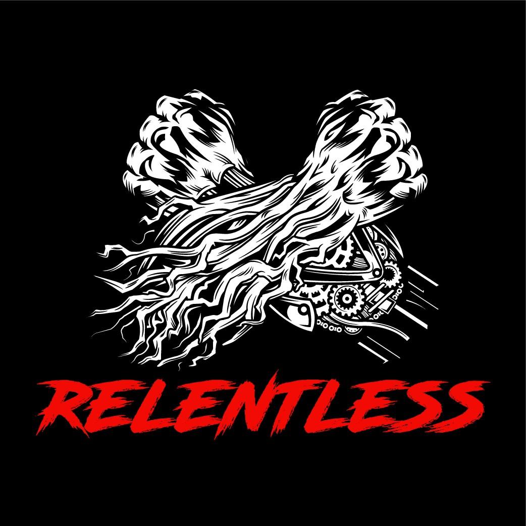 Relentless Personal Training needs a strong, organic meets machine logo