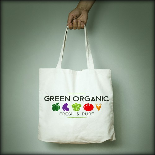 Logo concept for organic foods company.