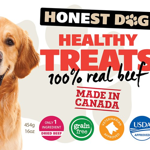 Healthy Dog Treat Label