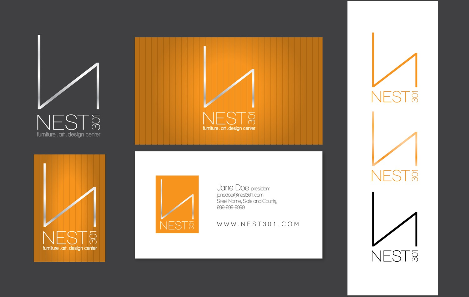 Help Nest 301 with a new logo and business card