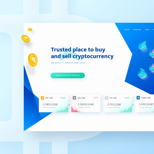 Cryptocurrency Exchange website design