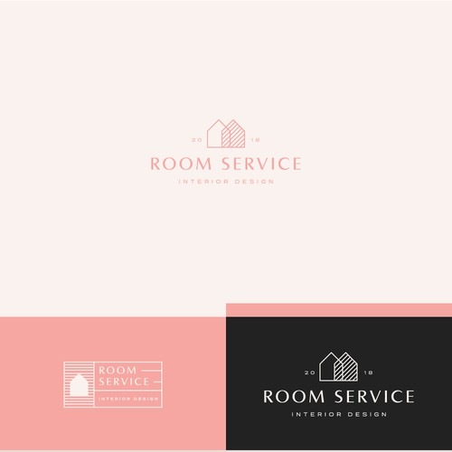 Logo for an interior design firm.