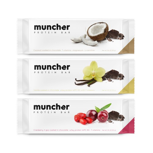 Muncher. Premium protein bar