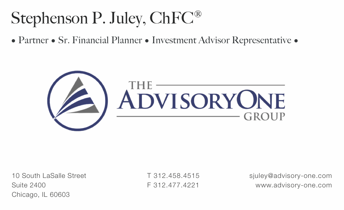 AdvisoryOne business card redesign