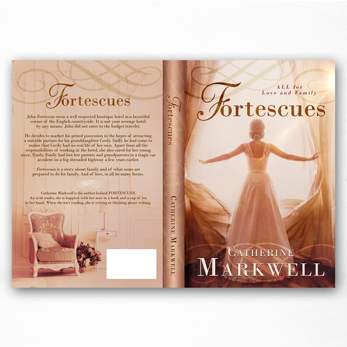 Fortescues -  Romance Fiction book cover design