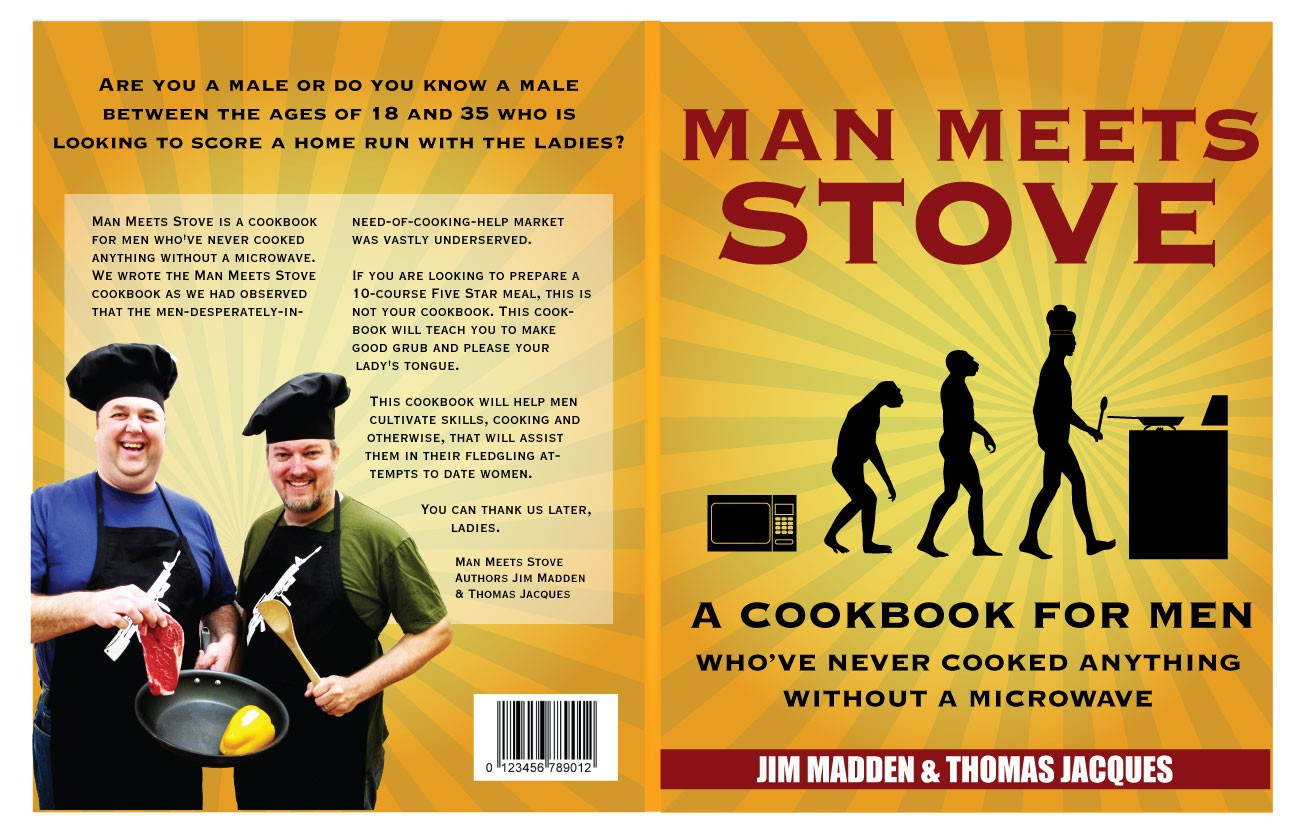 """""""Man Meets Stove"""" needs a Book Cover"""