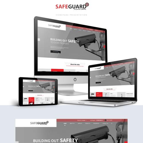 Web Design for a safeguard company