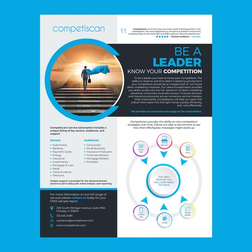 US Marketing Intelligence Firm seeking fresh marketing materials