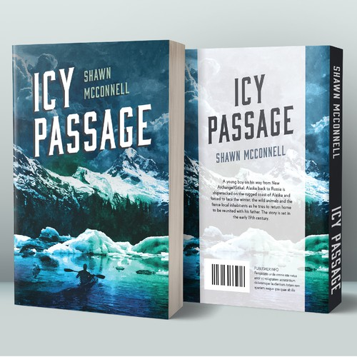 "Book cover design for ""Icy passage"""