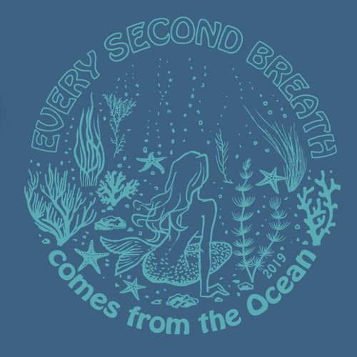 Illustration design for an Ocean Campaign T-shirt