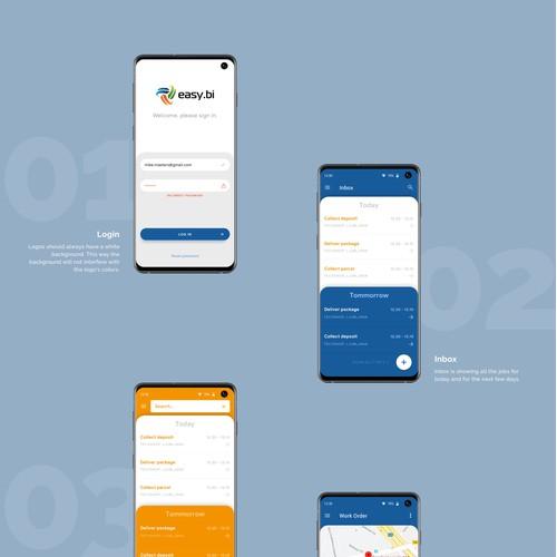 Mobile business app design