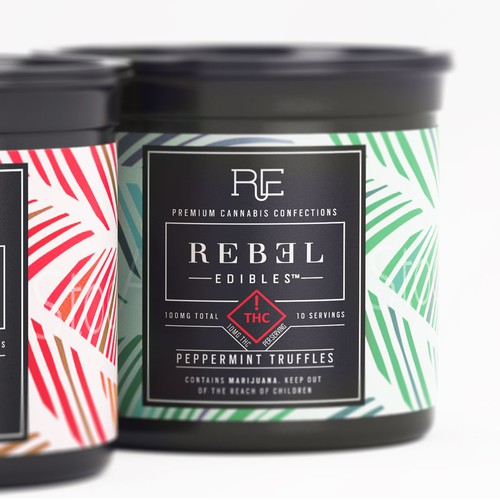 bright & sophisticated Holiday cannabis chocolate packaging label